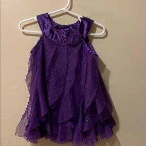 Girls 12 month dress purple by healthtex sparkles